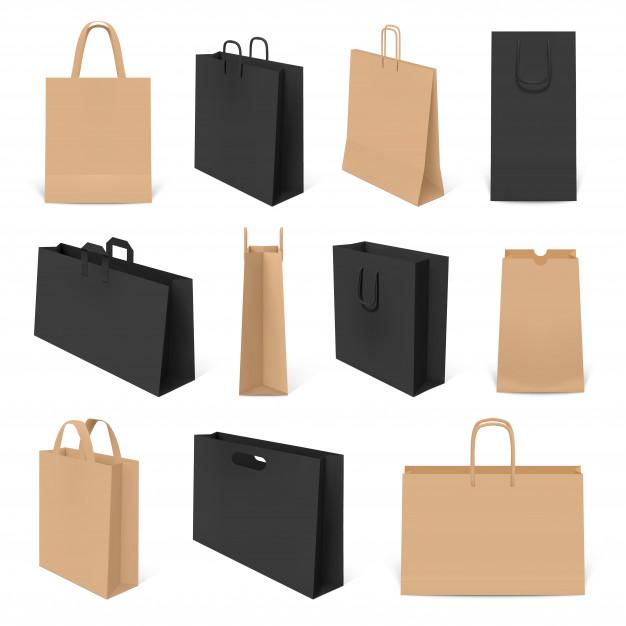 Экологичные бумажные пакеты для покупок