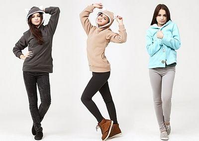 Толстовки и кофты для современных модниц
