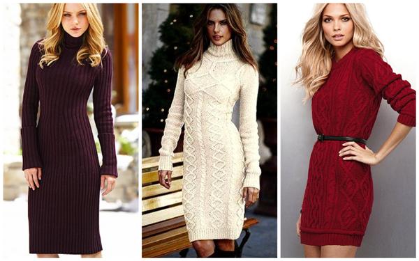 Теплые женские платья – комфорт не в ущерб элегантности
