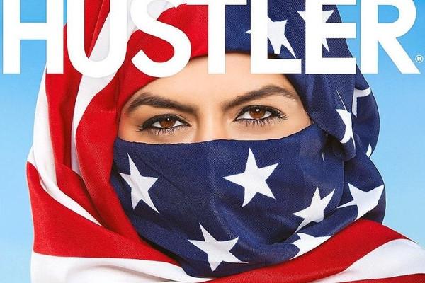 Эротический журнал Hustler поместил на обложку обнаженную женщину в хиджабе