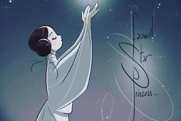 ДА ПРЕБУДЕТ С ВАМИ СИЛА: прощальные открытки для принцессы Леи