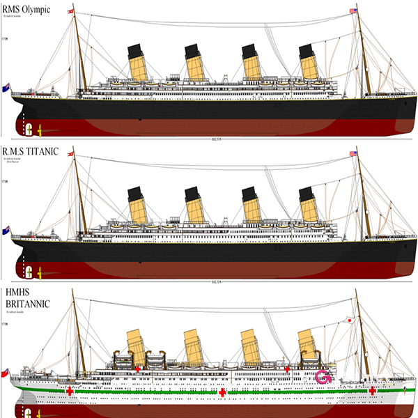 Судьба трех суперлайнеров Титаника Британика и Олимпика