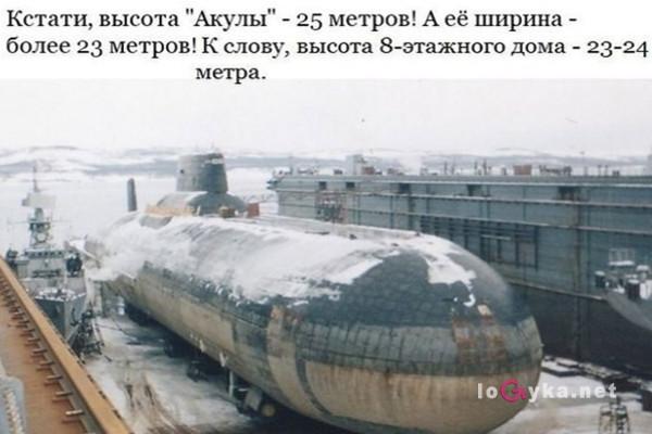 самая большая атомная лодка в мире